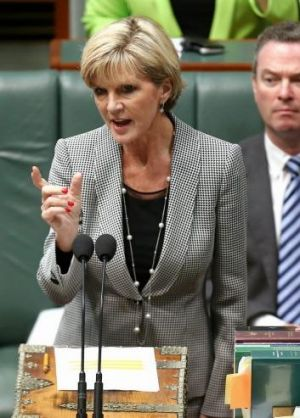 """Our mission is to support the Iraqi government"": Julie Bishop."