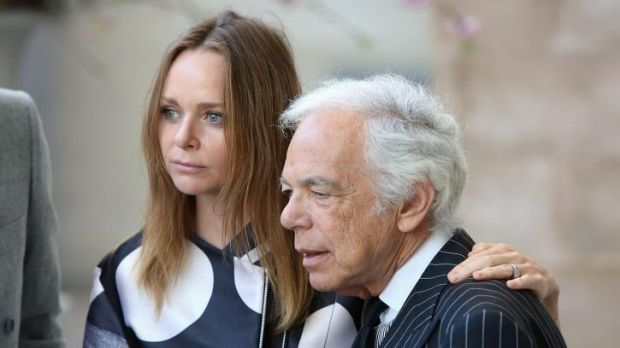 Designers Stella McCartney and Ralph Lauren at the opening of the Anna Wintour Costume Centre at the Metropolitan Museum ...