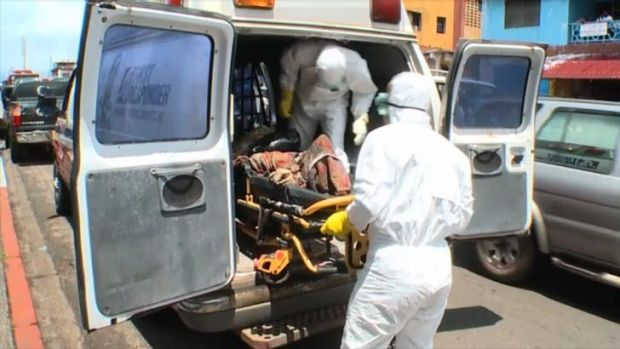 Resources are better equipped to handle dead bodies than to treat the ill. <i>Source: ABC News</i>