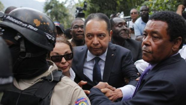 Jean-Cluade Duvalier with his wife Veronique Roy after their return to Haiti in 2011.