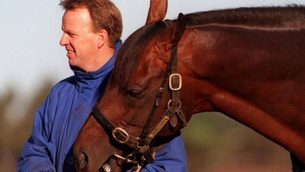 Special one: Trainer Bruce Wallace and one of his former Australian crusaders, Danarazi.