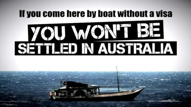 By boat, no visa: The early campaign.