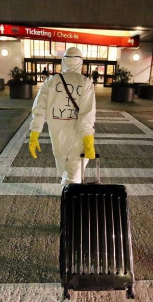 Dr Mobley said his protest was aimed at the mismanagement of the Ebola crisis by US federal authorities.
