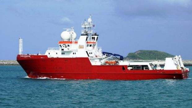 M/V Fugro Equator, which with the Chinese survey ship Zhu Kezhen, has mapped about 110,000 square kilometres of the vast ...