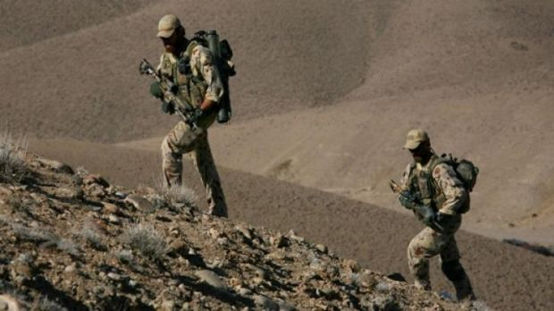 Soldiers of the Special Operations Task Group on patrol.