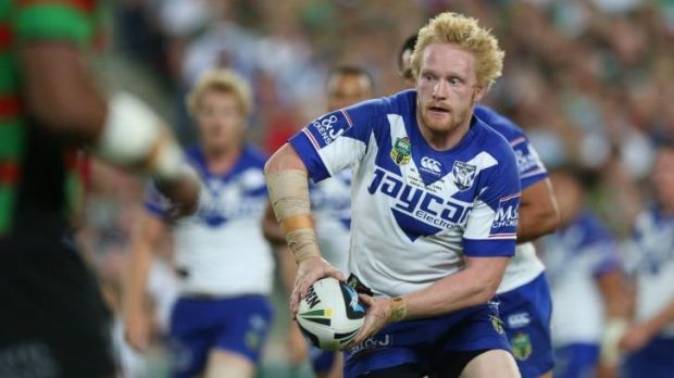 Outmuscled: Canterbury prop James Graham and his forward pack were beaten in the middle by South Sydney.