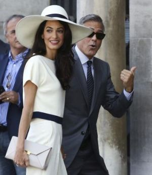 The future POTUS and FLOTUS? George Clooney and Amal Alamuddin.