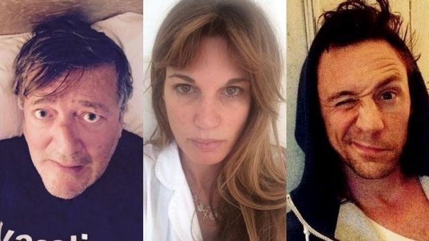 Good morning, good morning: Stephen Fry, Jemima Khan and Tom Hiddleston.