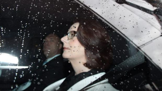 Former prime minister Julia Gillard pictured arriving to give evidence to the royal commission last month.