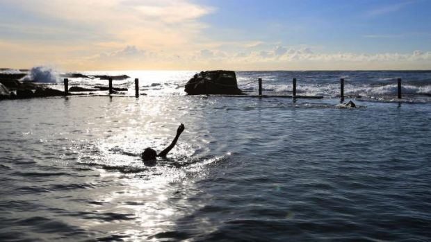 A swimmer enjoys clean conditions at Mahon Pool in Sydney's East. MetEye will provide hyper-local forecasts.