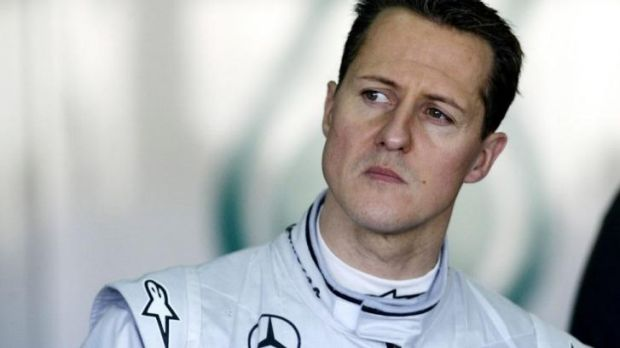 At home with his family: Michael Schumacher.
