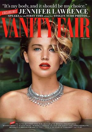 Lawrence on the cover of Vanity Fair.