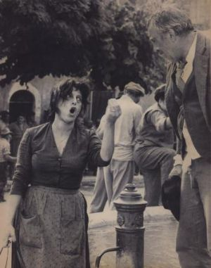 Strong: Anna Magnani conveying emotion to Anthony Quinn in The Secret of Santa Vittoria.