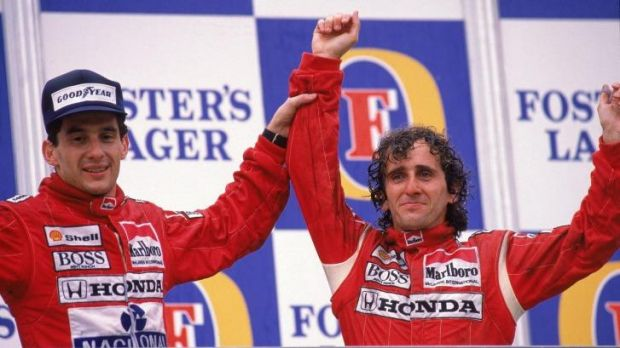 Prost, right with gret rival Ayrton Senna, says the removal truck should never have been on the track.