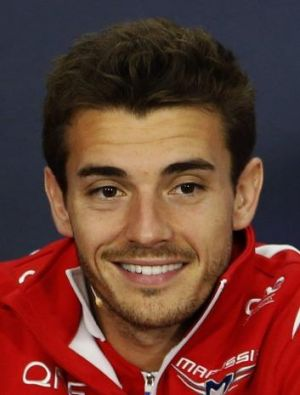 Jules Bianchi at a media conference before the Japanese Grand Prix.