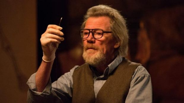 Michael Parks is a disturbing presence in Kevin Smith's horror-comedy <i>Tusk</i>.