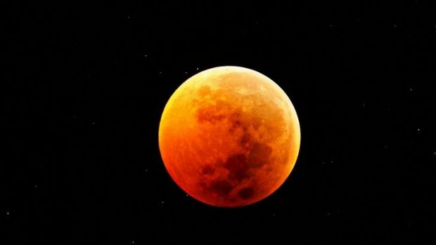 The rare 'blood moon' is expected occur from around 8.30pm (QLD time) on Wednesday.