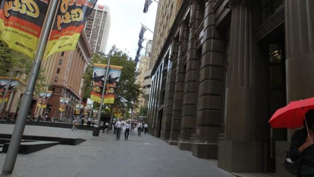 The woman says she was at a bar in Martin Place when her date's friends showed up.