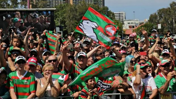 South Sydney Rabbitohs fan day celebrations at Redfern Oval.