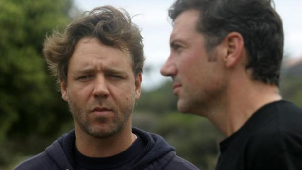 Peter Holmes a Court with co-owner Russell Crowe during their campaign to take ownership of the club in 2006.