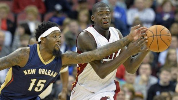 Making it in the big time: Former Perth swingman James Ennis competes with New Orleans opponent John Salmons during ...