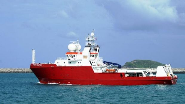 M/V Fugro Equator, which, with the Chinese survey ship Zhu Kezhen, has mapped about 110,000 square kilometres of the ...