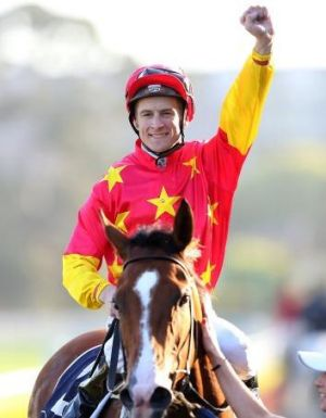 Inside knowledge: Blake Shinn after his Flight Stakes win on First Seal.