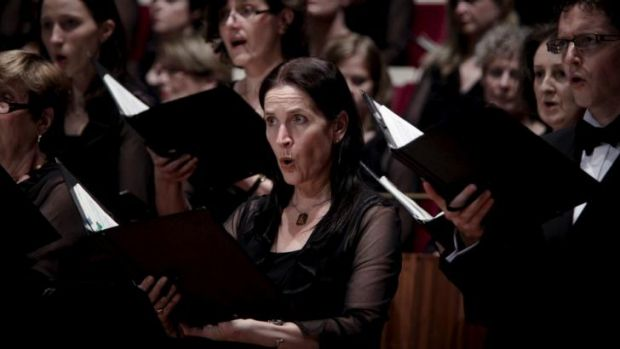Impressive in force: Members of the Sydney Philharmonia Choirs.