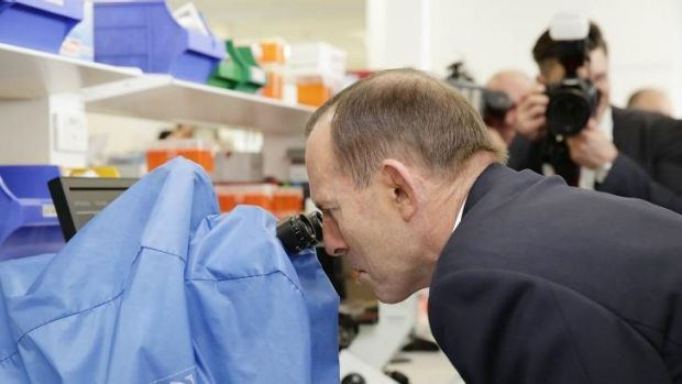 The Prime Minister at the official opening of the Westmead Millennium Institute on Thursday.