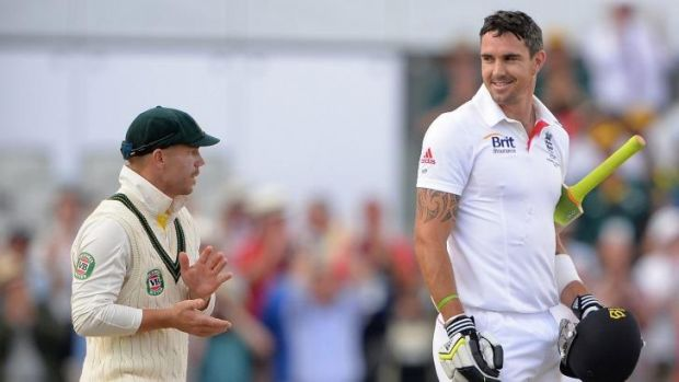I quite liked the bloke: Kevin Pietersen, right, with David Warner