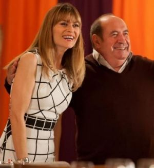 Happy times: Roy Billing (Graham) and Kat Stewart (Jen) in <i>It's a Date</i>. In real life, Billing found love on a ...