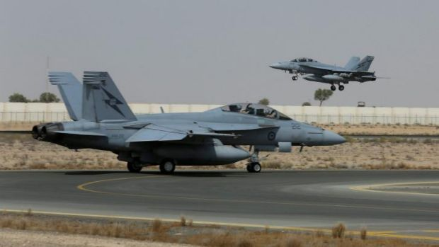 An RAAF fighter jet has bombed a building used by the Islamic State as a command centre, marking the first time ...