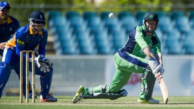 Nial O'Brien of Ireland plays a sweep shot against the ACT Comets. The Comets will find out if they are back in the ...