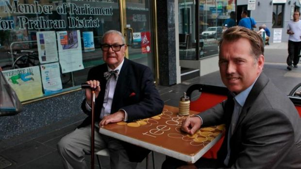 Noel Tovey who has an old conviction for consensual gay sex he wants deleted with Prahran MP Clem Newton-Brown. 20 ...