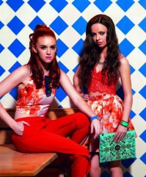 Model looks: Courtney Martin and Olivia Mennie, who feature on the cover of the new edition of In The City.