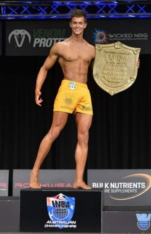 Body of work: Alistair Morrell after winning the men'?s fitness Australia overall category at the International Natural ...