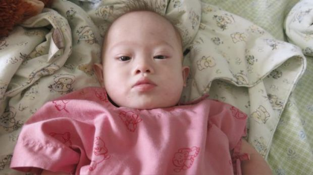 News of the abandoned Indian baby boy follows the story of Gammy, pictured, who his Thai surrogate mother claims was ...