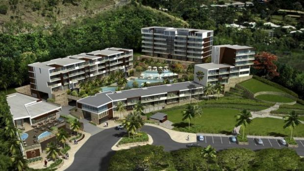 Boost to Queensland: ONE Whitsundays Resort under construction at Airlie Beach.