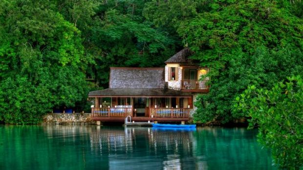 The spa building at Goldeneye Hotel & Resort in Oracabessa, Jamaica, which once belonged to Ian Fleming.
