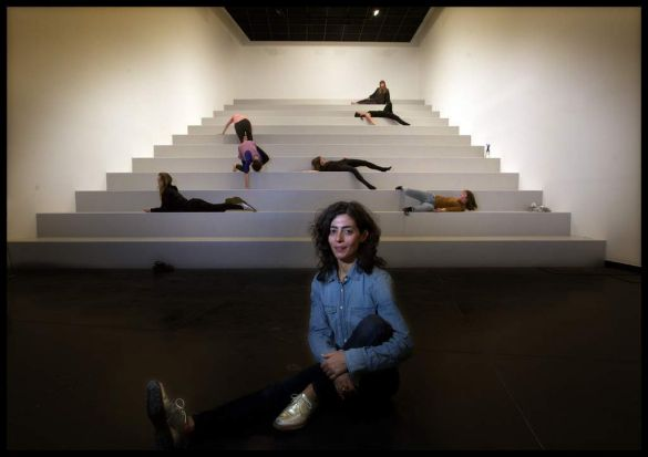 New York based Choreographer, Maria Hassabi, here for a show at Melbourne Festival 2014. Photographed at ACCA Southbank