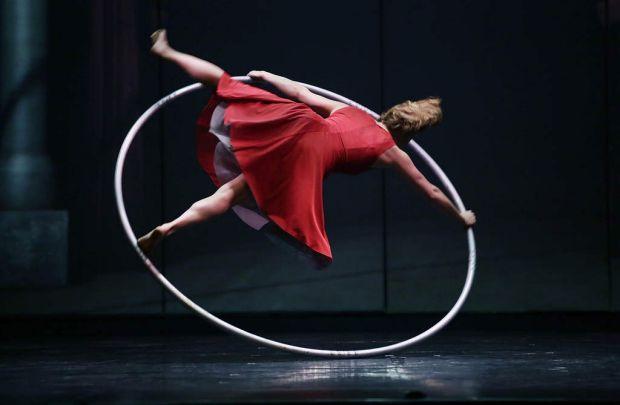 Lea Toran Jenner performs during a preview of Cirkopolis.