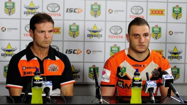 No issue: Robbie Farah with new coach Mick Potter.