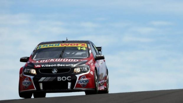 Up front: Fabian Coulthard during practice on Friday.
