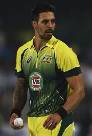 Killer glare: Mitchell Johnson is the most menacing bowler in the world.
