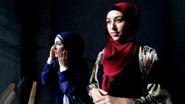 Sisterhood acts: Narjis Salah, left, and Amirah Amin.