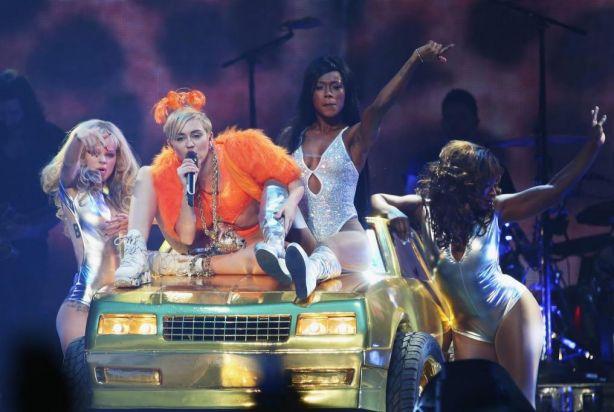 Miley Cyrus at Rod Laver Arena.