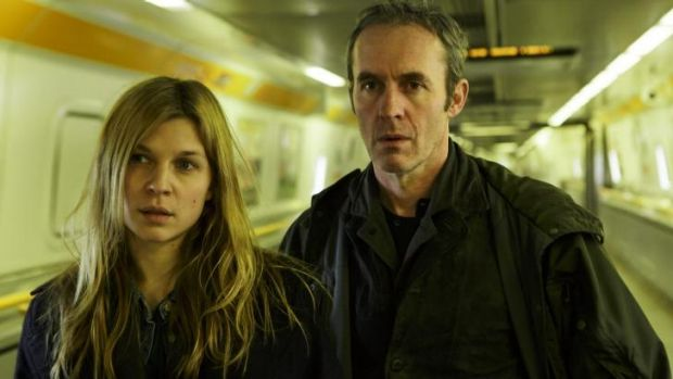 Odd couple:  Stephen Dillane plays a British detective and Clemence Poesy a French one in<i> The Tunnel.</i>