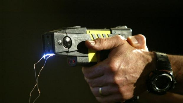 Hot shot: Taser guns were used in the ACT 144 times between 2011 and July 2014.