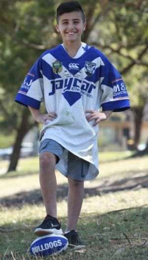 Proud as punch: Bulldogs and James Graham supporter Ali Jawad.