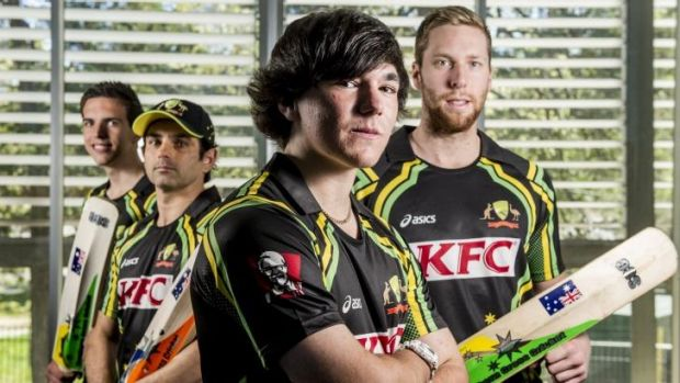 ACT indoor cricket players (from left) Alexander Floros, Vinesh Bennett, Wade Burrowes and Matthew Floros have been ...